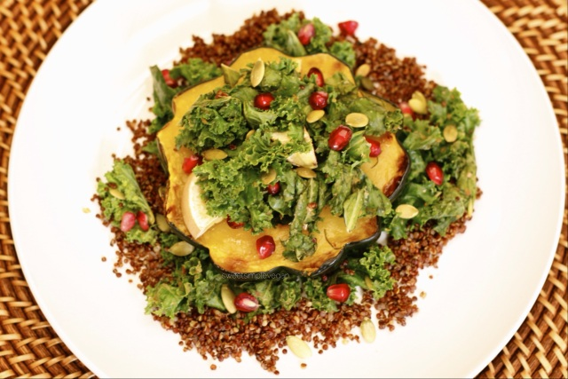 Fall Kale Salad (Oil Free, GF, Nut Free)