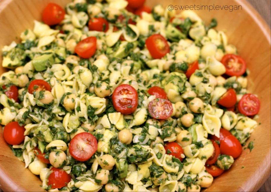 Cilantro Avocado Pasta Salad